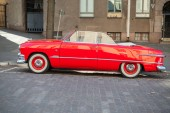 Ford Custom Deluxe Tudor 1951 car, side view — Stock Photo