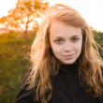 Portrait of teenage Caucasian blond girl — Stock Photo #75846789