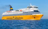 Mega Express ferry, big yellow passenger ship — Stock Photo