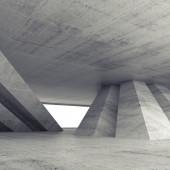 Interior de quarto quadrado vazio concreto abstrato — Fotografia Stock