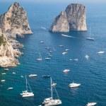 Faraglioni rocks of Capri island, Italy. Vertical — Stock Photo #82197202