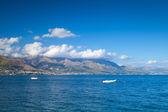 Gaeta zatoka, Morze Śródziemne płaszcz, Włochy — Zdjęcie stockowe
