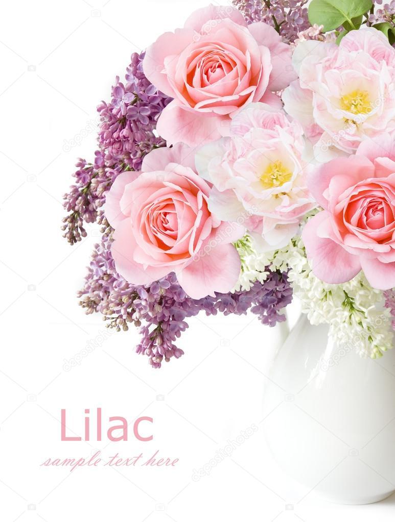 Нежные цветы для открытки