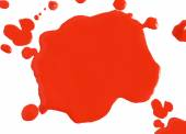 Close up of abstract red blood drops on white background — Stock Photo