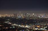 ロサンゼルス ・ ダウンタウンの夜景 — ストック写真