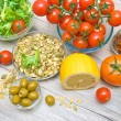 Food for the preparation of vegetable salad — Stock Photo #53713989