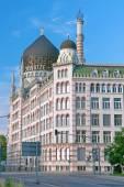 DRESDEN, GERMANY: The Yenidze building. Vertical photo. — Stock Photo