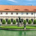 Wallenstein Riding Hall in baroque garden, Prague, Czech Republi — Stock Photo #58429351