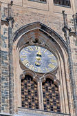 Czech Republic, Prague: The clock on the St. Vitus Cathedral. — Stock Photo