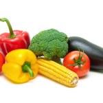 Ripe fresh vegetables isolated on white background close-up — Stock Photo #58962471