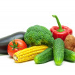 Healthy food: fresh vegetables isolated on white background. — Stock Photo #58970343
