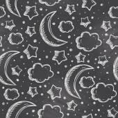 Night pattern — Stock Vector