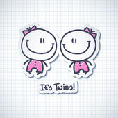 Its twins — Stock Vector