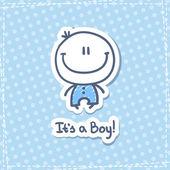 Its a boy — Stock Vector