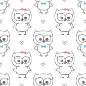 Baby owl — Stock Vector