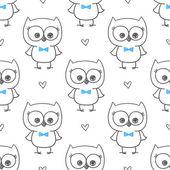 Baby owl — Stockvektor