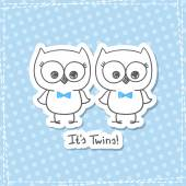 Owls twins — Stock Vector