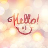 Hello lettering — Stock Vector