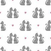Gatos apaixonados — Vetor de Stock