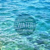 Realistic water — Stock Vector