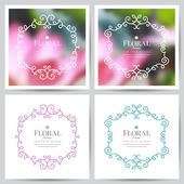 Floral frames — Stock Vector