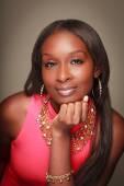 Fashionable Black Woman — Stock Photo