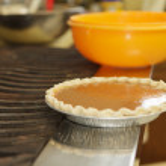 Preparing sweet potato pumpkin pie — Stock Photo #58735999