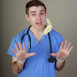 Silly Young Doctor — Stock Photo #73560931