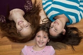 Tre giovani ragazze — Foto Stock