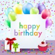 Color Birthday Card — Stock Vector #60454103