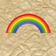 Vintage Card With Rainbow — Vettoriale Stock  #60454609