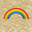 Vintage Card With Rainbow — 图库矢量图片 #60454609