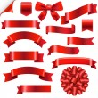 Big Red Ribbons Set — Vetor de Stock  #60454685