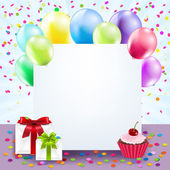 Colorful Birthday Card — Stock Vector