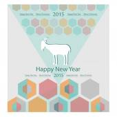 Goat on the background of hexagons infographics calendar — Stock Vector