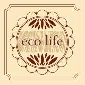 Eco healthy life natural product decorative emblem — Stock Vector