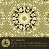 Yoga mandala pattern decorative block with text — Stockvektor