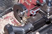 Make a metal key — Stock Photo