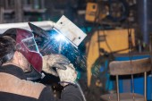 Welded iron metal — Stock Photo
