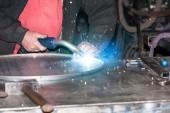 Welded steel iron — Stock Photo
