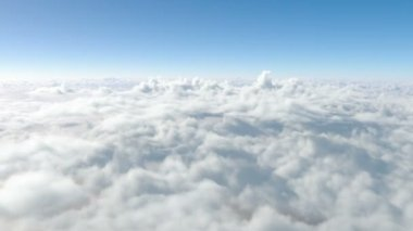 Flying above the clouds. through the clouds. paradise — Stock Video