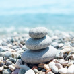 Three stones on stack near sea. zen like concept — Stock Photo #59075539