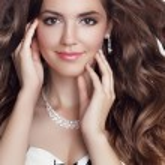 Beautiful fashion smiling girl model portrait. Long healthy Wavy — Stock Photo #54897525