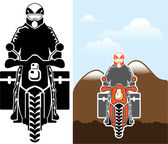 Moto Travel vector — Stockvektor