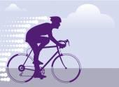 Fast Bicyclist vector — Stockvektor