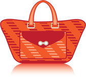 Red Fashion Bag — Stock Vector