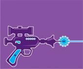 Laser Gun Vector — Stock Vector
