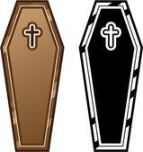 Coffins vector — Stock Vector