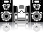 BoomBox Stereo — Stock Vector
