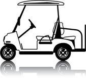 Golf Cart white — Stock Vector